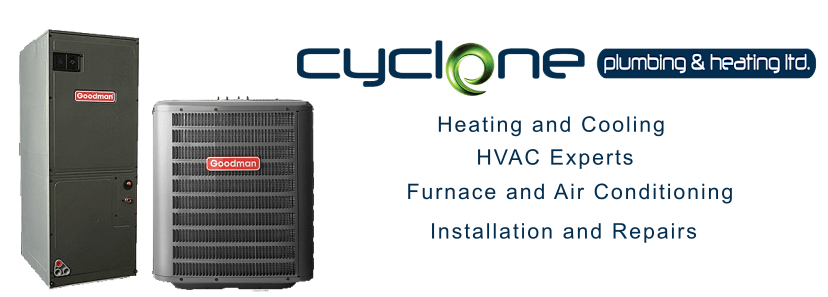 Cyclone Plumbing and Heating in Airdrie and Calgary. HVAC Experts for Furnace and Air Conditioner Installations and Repairs.